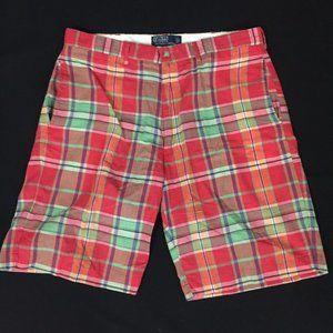 Polo Ralph Lauren Plaid Shorts Men's 35